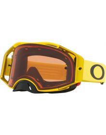 Oakley Airbrake MX Goggles Moto Yellow/Prizm Bronze Lens