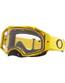 Oakley Airbrake MX Goggles Moto Yellow/Clear Lens