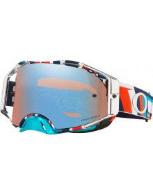 Oakley Airbrake MX Goggles TLD Quattro Red/White/Blue with Prizm Sapphire Lens