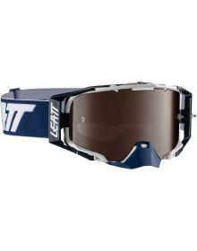 Leatt Velocity 6.5 Ink/White Goggle with Iriz Platinum Ultra Contrast Lens