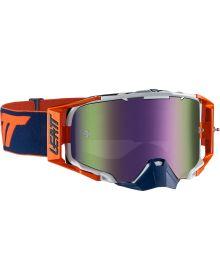 Leatt Velocity 6.5 Orange/Ink Goggles with Iriz Purple Lens