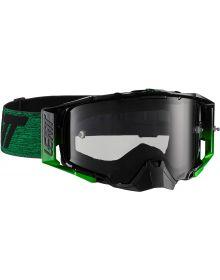 Leatt  Velocity 6.5 Black/Green Goggles with Smoke Lens