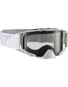 Leatt Velocity 6.5 White/Gray Goggles with Light Grey Lens