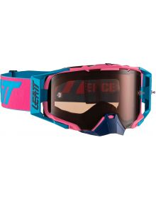 Leatt Velocity 6.5 Pink/Cyan Goggles with Rose Ultra Contrast Lens