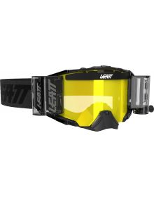 Leatt Velocity 6.5 Goggles with Roll-Offs Black/Gray with Yellow Lens