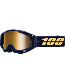 100% Racecraft Goggles Bakken w/Gold Mirror Lens