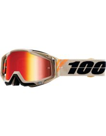 100% Racecraft Goggles Poliet w/Red Mirror Lens