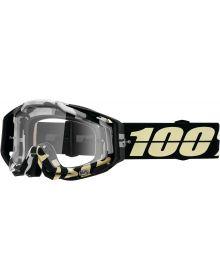100% Racecraft Goggles Ergoflash w/Clear Lens