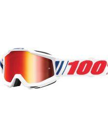 100% Accuri Goggles AFO66 W/Red Mirror Lens