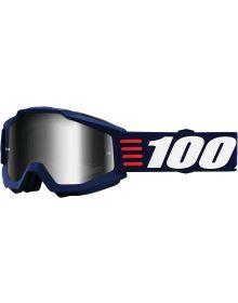 100% Accuri Goggles Atr Deco W/Silver Mirror Lens