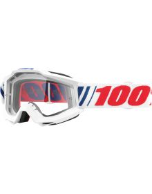 100% Accuri Goggles AFO66 W/Clear Lens