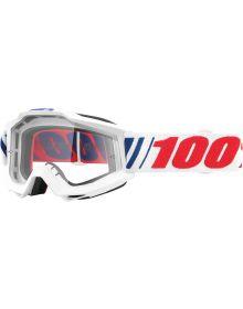 100% Accuri Goggles AFO66 W/Clear Lens