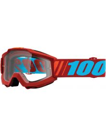 100% Accuri Goggles Dauphine W/Clear Lens