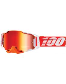 100% Armega Goggles Regal W/Red Lens