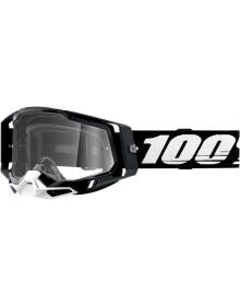 100% Racecraft Gen2 Goggles Black w/Clear Lens