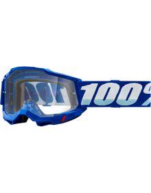 100% Accuri Gen2 OTG Goggles Blue W/Clear Lens