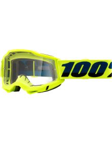 100% Accuri Gen2 OTG Goggles Fluo Yellow W/Clear Lens