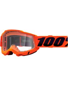 100% Accuri Gen2 OTG Goggles Neon Orange W/Clear Lens