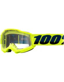 100% Accuri Gen2 Youth Goggles Fluo Yellow W/Clear Lens