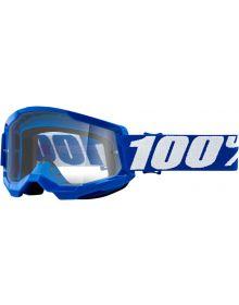 100% Strata Gen2 Goggles Blue w/Clear Lens