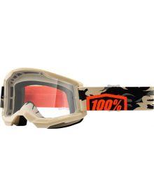 100% Strata Gen2 Goggles Kombat w/Clear Lens