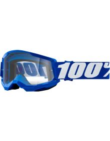 100% Strata Gen2 Youth Goggles Blue W/Clear Lens