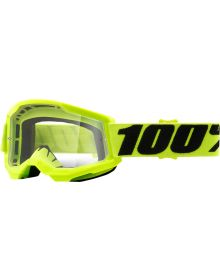 100% Strata Gen2 Youth Goggles Yellow W/Clear Lens
