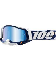 100% Racecraft Gen2 Goggles Concordia w/Blue Mirror Lens
