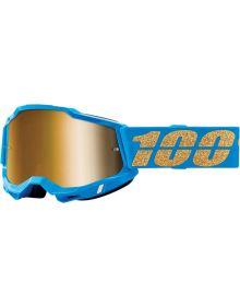 100% Accuri Gen2 Goggles Waterloo W/Gold Mirror Lens