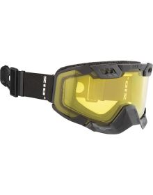 CKX 210 Degrees Backcountry Snowmobile Goggle Black with Yellow Lens
