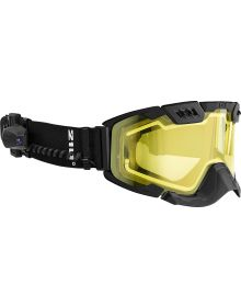 CKX 210 Degrees Backcountry Electric Snowmobile Goggle Black with Yellow Lens