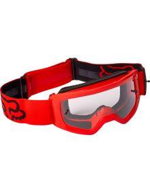 Fox Racing Main Stray Youth Goggle Flo Red