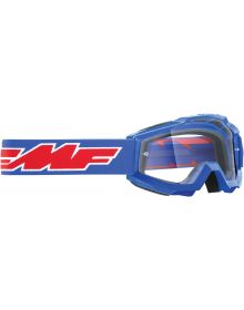 FMF Powerbomb Youth Goggle Rocket Blue W/Clear Lens