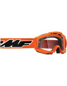 FMF Powerbomb Youth Goggle Rocket Orange W/Clear Lens