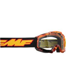 FMF Powerbomb Youth Goggle Spark W/Clear Lens