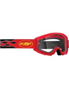 FMF Powercore Youth Goggle Flame Red W/Clear Lens