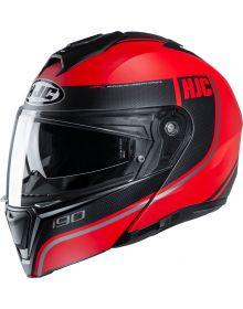 HJC i90 Davan Helmet Black/Red