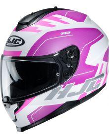 HJC C70 Koro Helmet White/Pink