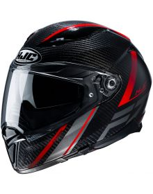 HJC F70 Carbon Eston Helmet Black/White
