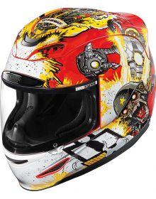 Icon Airmada Helmet Monkey Business Red