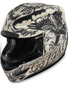 Icon Airmada Helmet Scrawl White