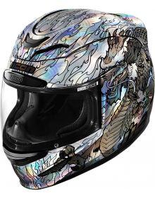 Icon Airmada Helmet Legion Silver