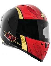 Speed and Strength SS2100 Heretic Helmet Black/Red