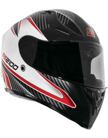 Speed and Strength SS2100 Circuit Helmet Black/White/Red