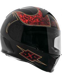 Speed and Strength SS900 Scrolls Helmet Matte Black/Red