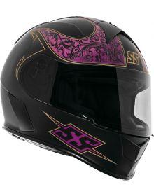 Speed and Strength SS900 Scrolls Helmet Matte Black/Violet