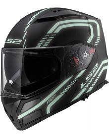 LS2 Helmets Metro Modular Helmet Firefly Black/Glow