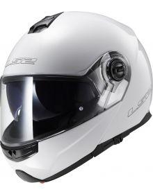 LS2 Helmets Strobe Modular Helmet Solid White