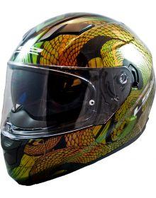 LS2 Helmets Stream Helmet Snake Bite Chameleon