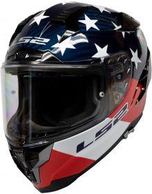 LS2 Challenger GT Ameri Carbon Helmet Gloss Red/White/Blue